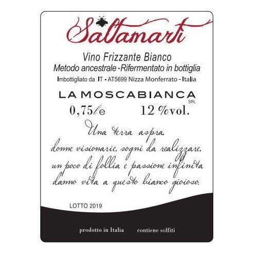 etichetta vino frizzante bianco Saltamartì
